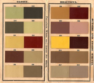 Victorian era historic paint colors sample ships from Lucas Colors