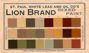 19th century collection of Victorian era paint colors from Lion Brand