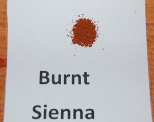 Burnt sienna paint pigment used in Victorian era historic paint colors