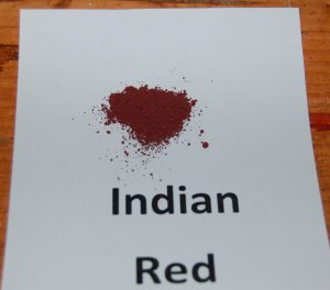 Indian Red paint pigment used in Victorian era historic paint colors