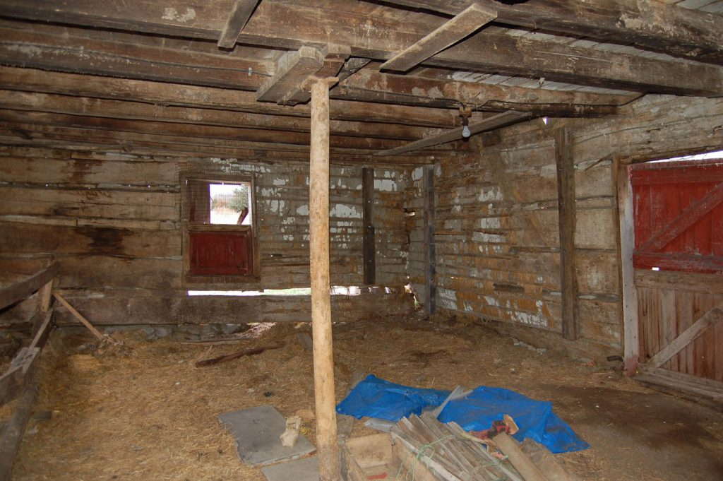 Wall Plaster In A 19th Century Log Cabin Historic Design